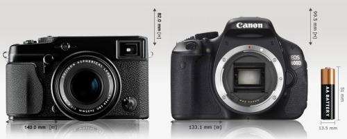 Fujifilmx1pro-sizecomparison