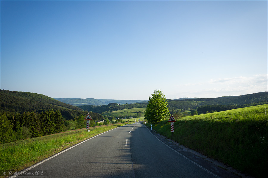 Amtshäuser Höhe - weiter Blick über die Höhen des Wittgensteiner Lands