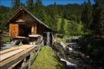 Die Wasserrad-getriebene Säge auf der Schwarzwaldalp.
