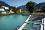 Fischtreppe am Kleinwasserkraftwerk Mühle Burgholz in Interlaken