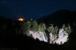 Nachts beleuchteter Reichenbachfall und Startrails. Und beleuchtetes Hotel Zwirgi. Auch aus meinem Hotelzimmer aufgenommen... sehr bequem. :)