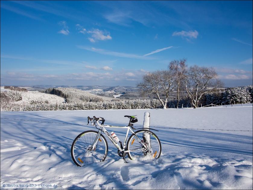 Merida Cyclocross 4-D oberhalb Birkefehl.
