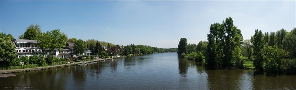 Die Ruhr bei Mülheim an der Ruhr.