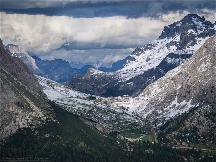 Passo Pordoi, Schnee im Juni