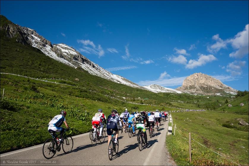 Der Passo Pordoi und der Blick gen Passhöhe.