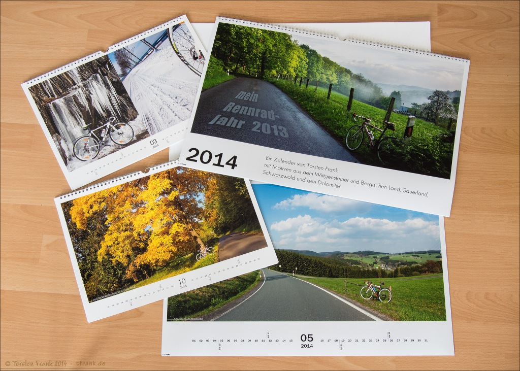 Kalender 2014: Mein Rennradjahr 2013