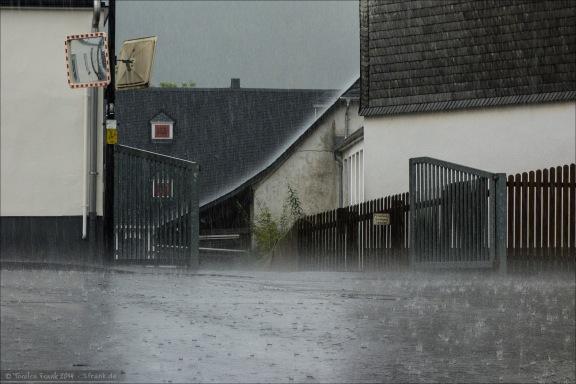 Regen, intensiver Regen...