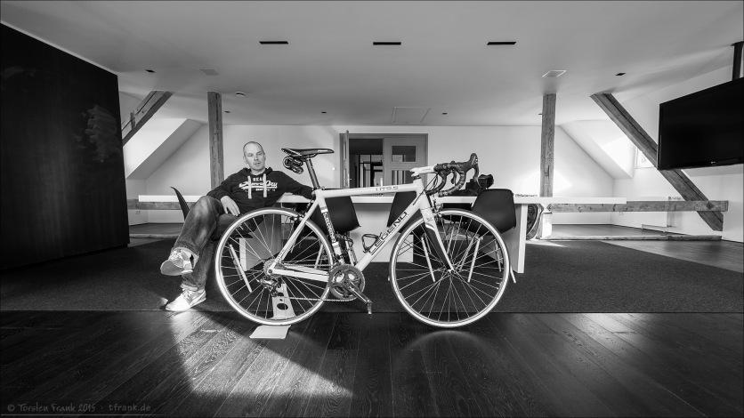 Lee und sein Legend HT 9.5. Im Klassikertrimm mit den Ambrosio-Laufrädern.