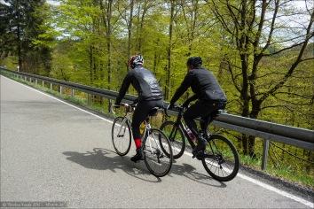 Frisches Maigrün an den Bäumen säumt diese schöne kleine Straße von Westfeld hoch nach Altastenberg.