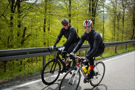 Fabian und Thorsten. Pinarello und Canyon.