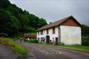 Am Anfang des Anstiegs zum Col des Chevrères.