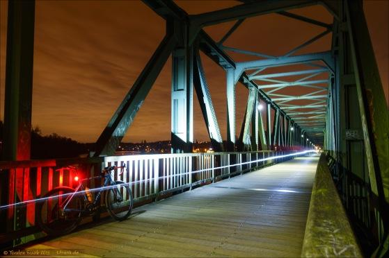 Giant TCX Advanced Pro 1 auf der Radweg/Wanderweg-Brücke am Einlauf Baldeney-See.