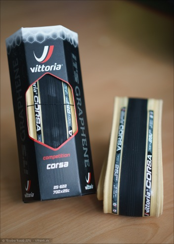 Vittoria Corsa G+ in der Dimension 700x25 (mit Graphene Technologie)