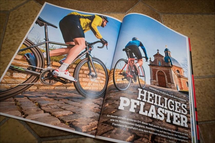 Roadbike 03/2017 Artikel mit mir über Flandern: