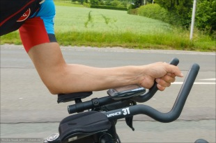Profile Design T1+ Aerobars with 3T extensions. I like this angle. It's basically the same angle as my stem.