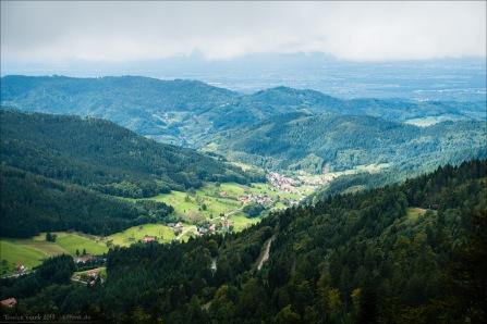 Blick über Seebach Richtung Rhein
