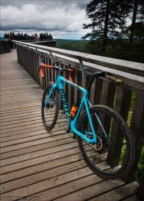 Ich liebe mein Fahrrad, es bringt mich zu besonderen Orten. Cxploring im Rahmen des Votec Gravel Fondo im Nordschwarzwald führte zu dieser coolen Aussichtsplattform.