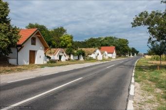 Kellergasse in Niederösterreich kurz vor der Grenze zur Slowakei