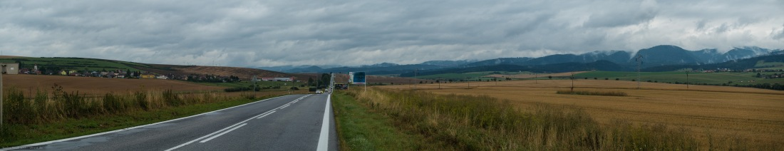 Von Poprad aus Richtung Süden