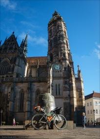 Mein Rad vor dem Elisabeth-Dom