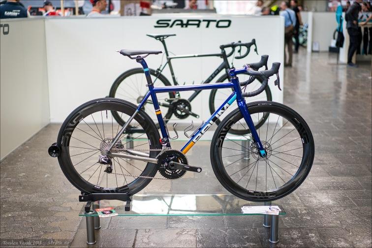 Bureau Fidder aus Kampen in den Niederlanden hatte zwei Räder dabei. Einmal handgemacht aus Australien und einmal aus Italien: Baum Cycles und Sarto.