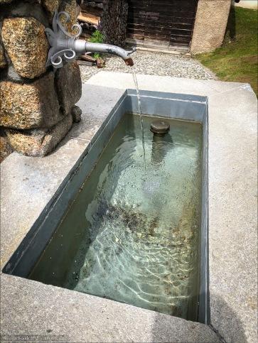 In den Alpen herrscht an guten Trinkwasserbrunnen kein Mangel. Wie hier in La Punt.