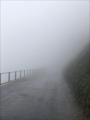 In den Wolken und kaum Sicht.