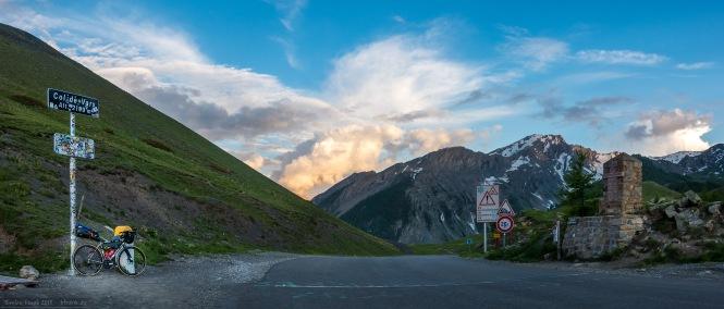 Dritte Passhöhe des Tages erreicht. Am Col de Vars.