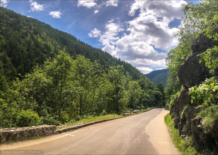 Schon weit unten in der unmittelbaren Abfahrt vom Col de la Bonette.