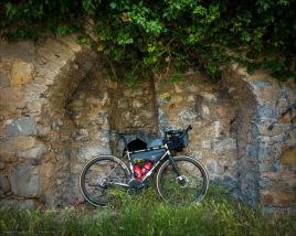 Mein treues Titanrad am Col de Braus.